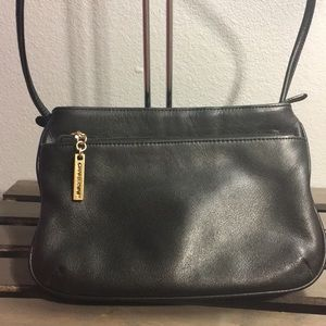 Giani Bernini Black Leather Crossbody
